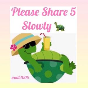 Share 5 for 5 Slowly! 🐢🐢🐢